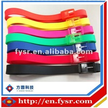 Newly arrival!!! Most fashionable 2012 & 2013 colorful silicone belt with plastic buckle
