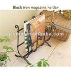 Black iron book rack