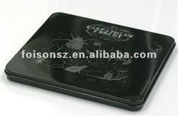 Black metal DVD tin case