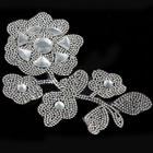 Flower shape rhinestone transfer