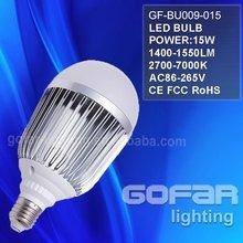 15W E27 high brightness led bulb light
