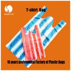 multicolored PE shopping T-shirt plastic packaging bag