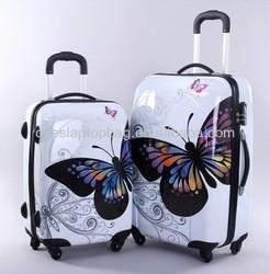 "ABS PC 20"" 24"" animal print luggage locator four wheel trolley luggage"