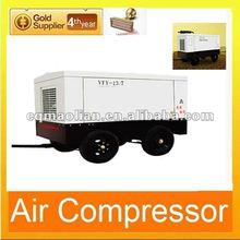 7 Bar Mobile Diesel Breathing Piston Air Compressor