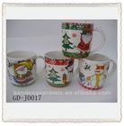 Hot sales snowman ceramic travel coffee mugs