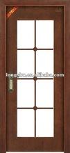 Cheap wooden glass door designs soundproof for school&office