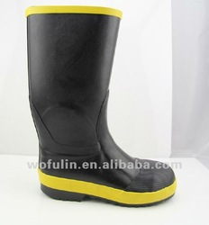 over knee rubber boot with steel toe