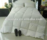 100% cotton plain white duck/goose down bedding set