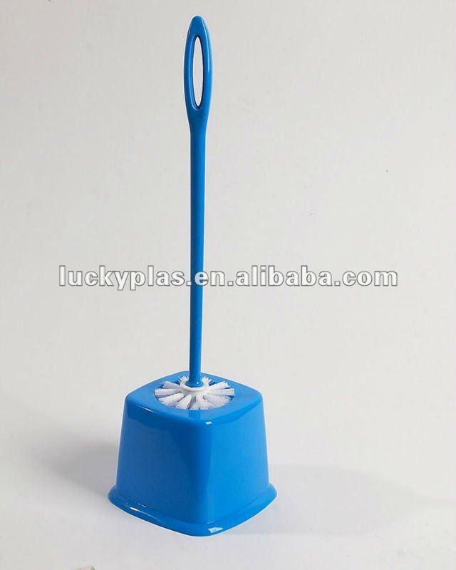 wc cepillo de plástico con base cuadrada