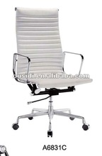 white executive chairs/white leather chair(A6831C#)