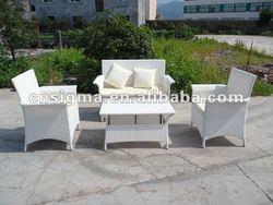 Hot sale- white rattan garden sofa set modern designs outdoor