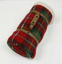 Cheap Double-side Polar Fleece Travel Rug/Blanket(KN-BL-38)
