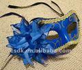 fiore blu veneziana mascherata maschera per la festa in costume