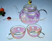 Glass tea set/Heat resistant borosilicate glass/Chinese style