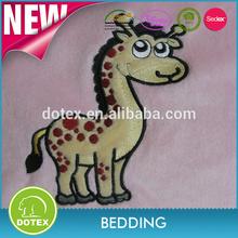 Animal Printed Microfiber Sherpa Plush Mink Baby Blankets wholesale