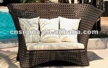 2014 caliente de la venta de mimbre al aire libre de mimbre antiguos muebles de exterior de diván