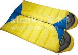 two way zipper to make couple envelope sleeping bag with hood