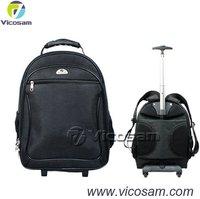 15.6 inch laptop trolley bag, ABS laptop trolley backpack bag
