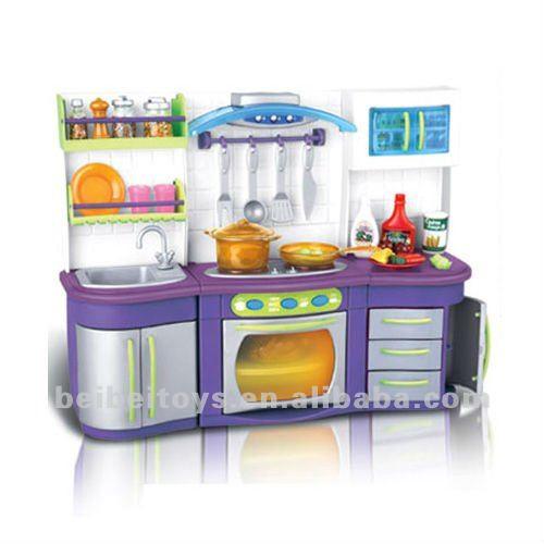 Toys furniture kitchen play set cooking toy set view for Kitchen set wala game