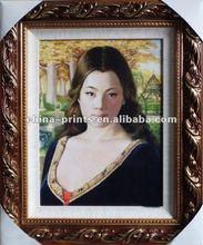 Plump Woman Painting