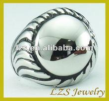 Distribute die casting Polishing shining big vintage skull ring (STR-0358A)