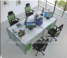 QQ idea glass partitions simple design office desk office workstation