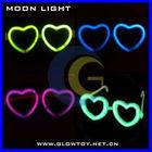 heart shape glow eyeglasses glow in the dark