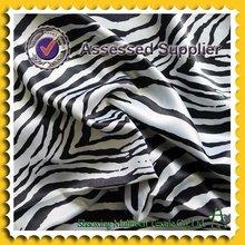100% polyester printed black white striped satin fabric