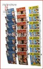Wall-mounted Chromed metal wire magazine greeting card display rack/newspaper display holder/custom metal hanging display rack