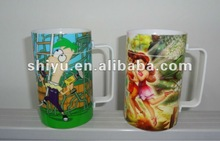 puzzle boy cup and girl cup