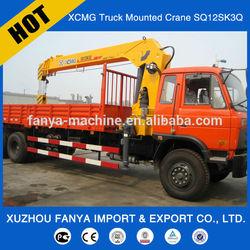 cheap price XCMG 12 ton truck mounted crane SQ12SK3Q