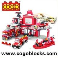 COGO Enlightenment Brick Toys Fire Fighter Series Enlighten Block