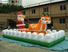 New design reindeer sleigh christmas inflatable