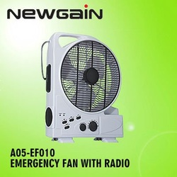 Rechargeable.With FM/AM Radio AND Lamp.Emergency Fan