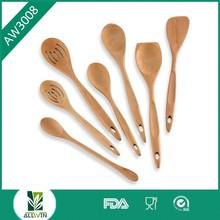High Quality Beech wooden kitchen utensils