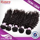 100% Human Hair Extensions - Remy Brazilian Hair, Virgin Hair, natural hair color #1b