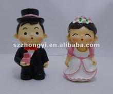 wedding couple doll/resin couple statues/couple figurine