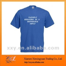 Round Neck Fashion Logo Printed T-shirts in Blue for Men