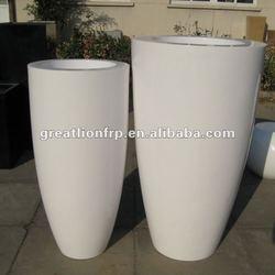 GK-A tall fiberglass planter, modern flower pot