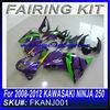 For 2008 2009 2010 2011 2012 KAWASAKI NINJA 250 fairing purple EVA