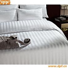 3CM white stripe design hotel bedding set