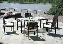 Rattan outdoor dining set,PE rattan/ wicker garden furniture