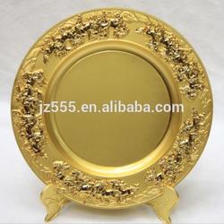 Gold zinc souvenir blank plate