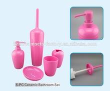 New design plastic bathroom set accessories