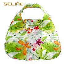 Fashion new design reusable cheap flower reusable shopping bag folding nylon bag