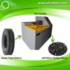 Waste Tire/Tyre Rubber Strips & Blocks Cutting Device For Hot Pyrolysis Oil Refining