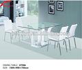 Mesa de madera base enemigo de vidrio mesa de apoyo/mesa de comedor moderno conjunto