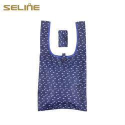 Promotional customized size&logo low price cheap nylon foldable shopping bag
