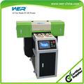 2015 nuevo modelo todos los materiales de impresión con dos cabezas dx5 wer a2 de inyección de tinta uv de cama plana led impresoradigital