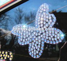 DIY crystal stickers,rhinestone animated car sticker decals,Butterfly
